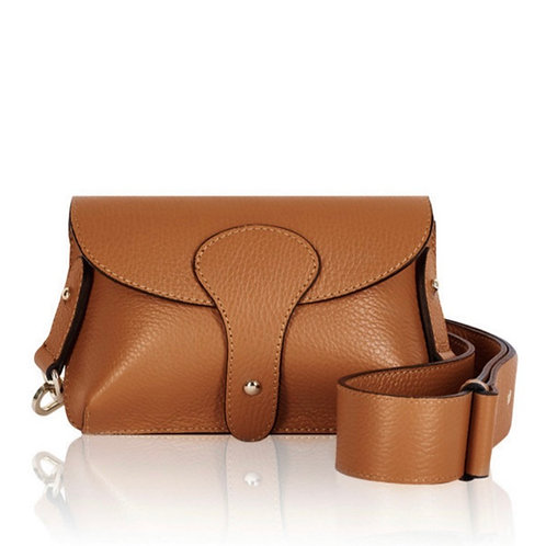 Dark Tan Chunky Strap Crossbody Bag