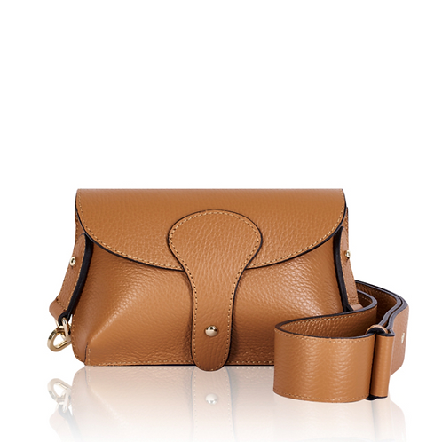 Tan Chunky Strap Crossbody Bag