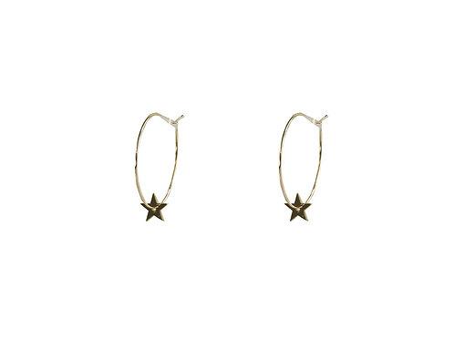 Estelle Gold Star Hoop Earrings