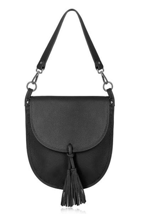 Black Tassel Tote/ Crossbody Bag