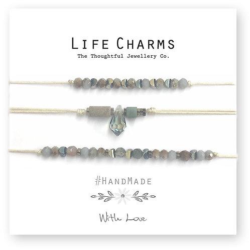 Grey Handmade Friendship Bracelet Set