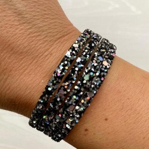 Pewter Sparkle Wrap Bracelet