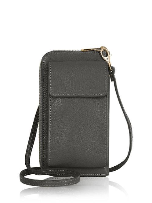 Dark Grey Wallet/ Crossbody Phone Bag