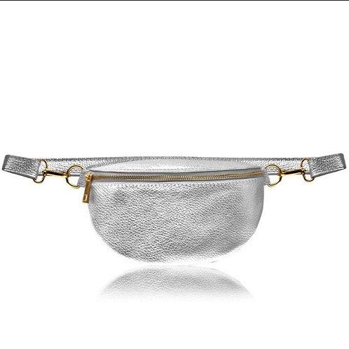 Silver Crossbody/ Waist Bag