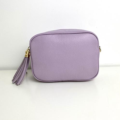 Lilac Crossbody Bag with Tassel