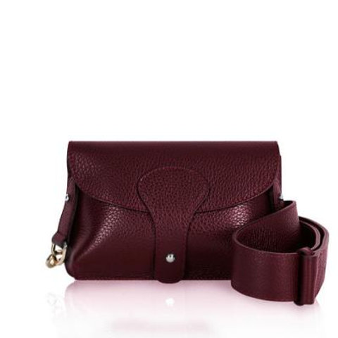 Burgundy Chunky Strap Crossbody Bag
