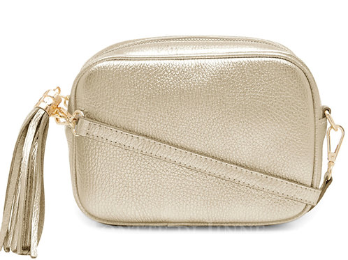Gold Crossbody Bag with Tassel