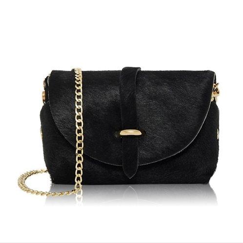 Black Gold Chain Strap Bag