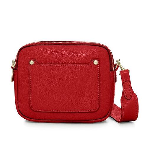 Red Double Zip Crossbody Bag
