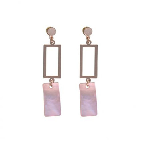 Perdita Pink & Rose Gold Delicate Shell Earrings