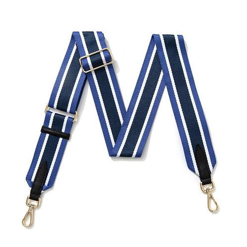 Navy, Blue & White Stripe Strap