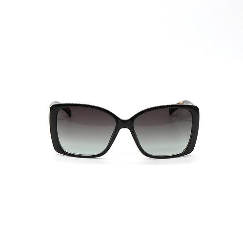 Square Framed Dark Tortoiseshell Sunglasses