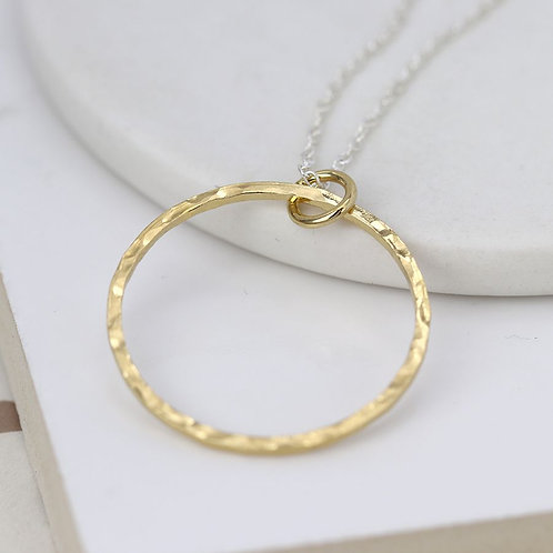 Sterling Silver & Gold Circle Necklace