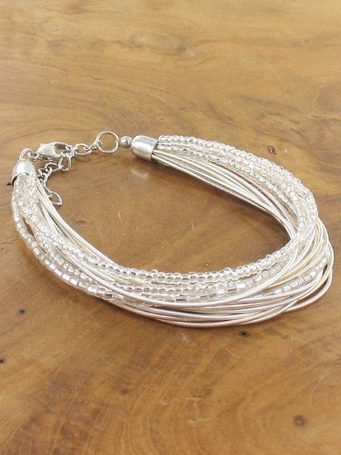 Multi-strand bead & wire bracelet