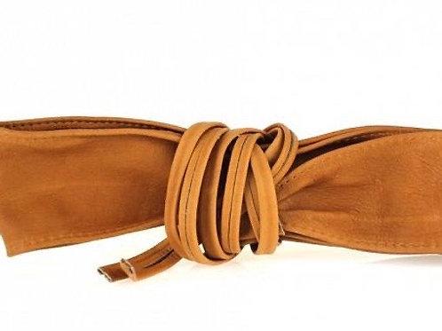 Tan Obi Style Waist Belt