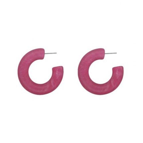 Petra Bright Pink Hoop Earrings