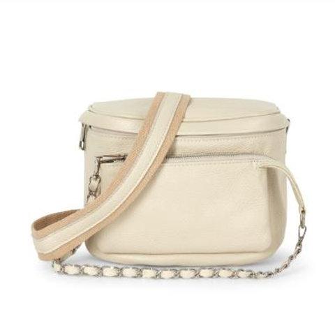 Cream Pouch Crossbody Bag