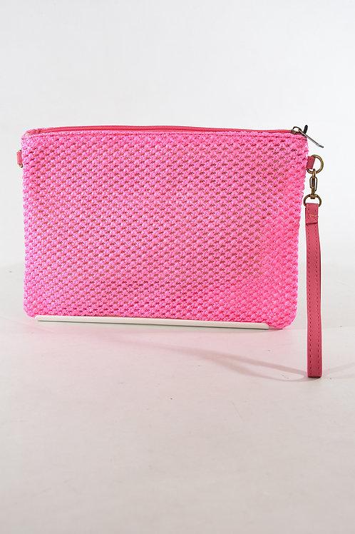 Bright Pink Clutch Bag