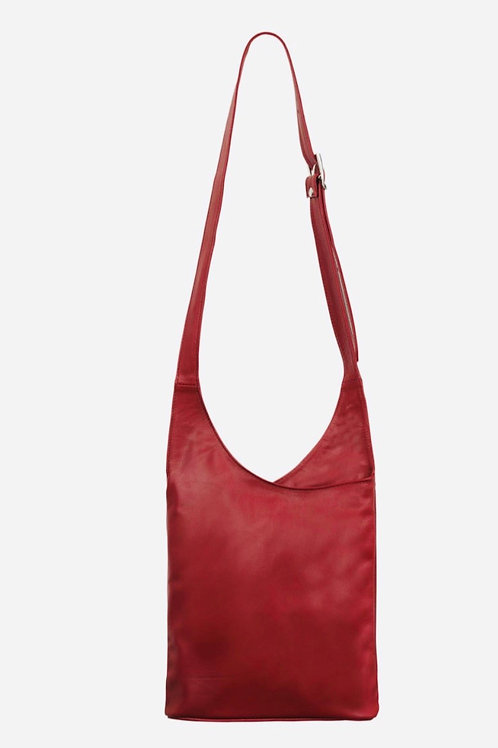 Red Slouchy Crossbody Bag