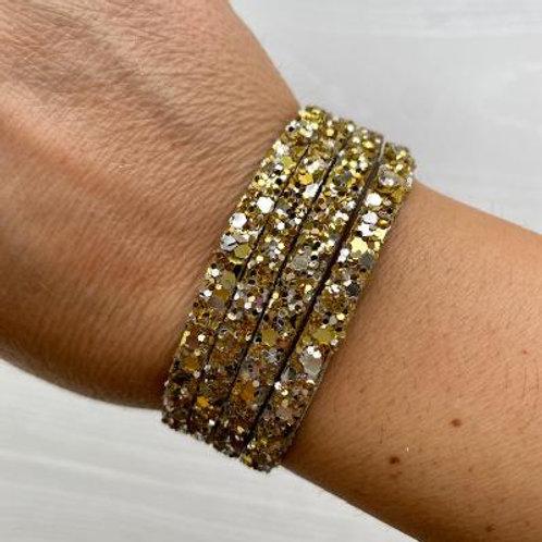 Gold Sparkle Wrap Bracelet