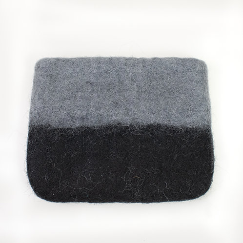 Black & Grey Ombre Felted Coin Purse