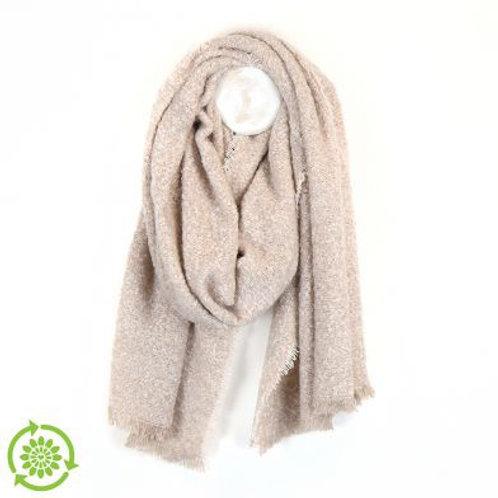 Cream Boucle Blanket Scarf