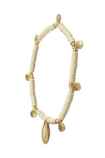 Vanilla Beaded Bracelet