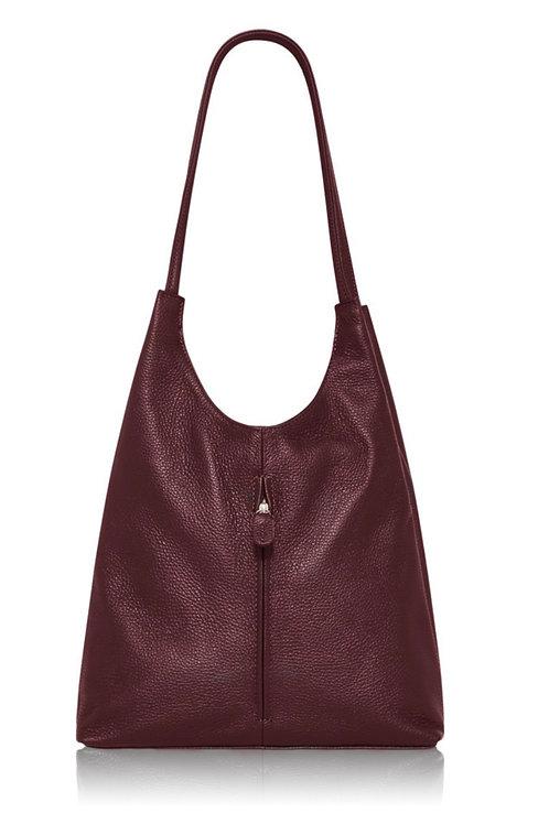 Burgundy Emma Tote Bag