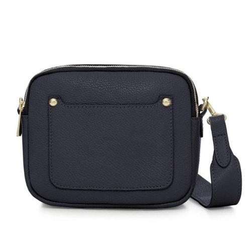 Navy Double Zip Crossbody Bag