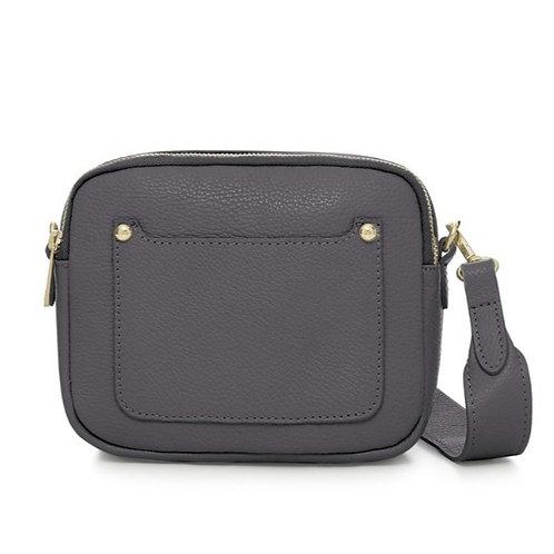 Dark Grey Double Zip Crossbody Bag
