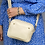 Thumbnail: Cream Double Zip Crossbody Bag