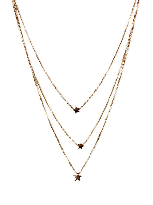 Estelle Gold 3 Layer Star Necklace