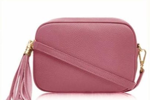 Dusky Pink Cross Body Bag with Tassel