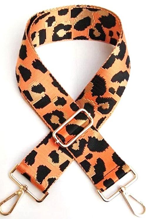 Orange Cheetah Bag Strap