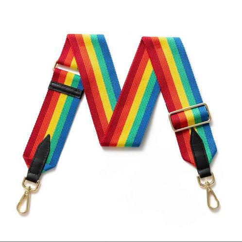 Bright Rainbow Bag Strap - Gold Hardware