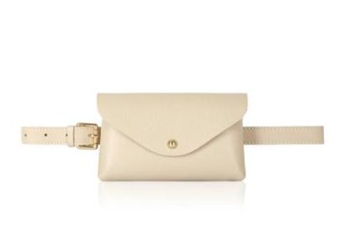 Cream Belt/ Crossbody Bag