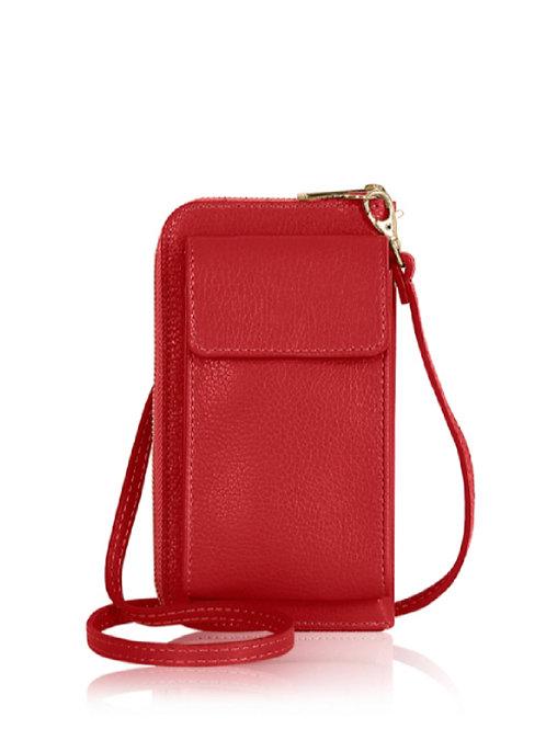 Red Wallet/ Crossbody Phone Bag