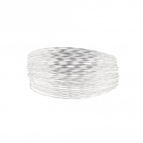 Silver Ripple Cuff Bracelet