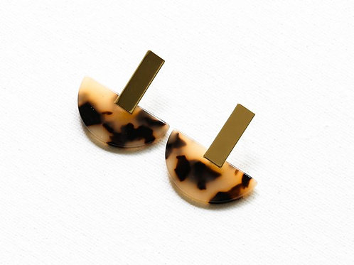 Florentine Tortoiseshell Resin Earrings