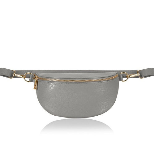 Light Grey Crossbody/ Waist Bag