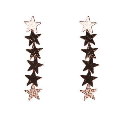 Iris Rose Gold Star Earrings