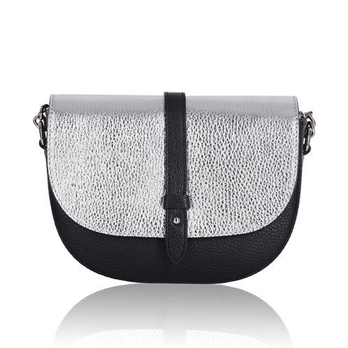 Black & Silver Chain Strap Bag