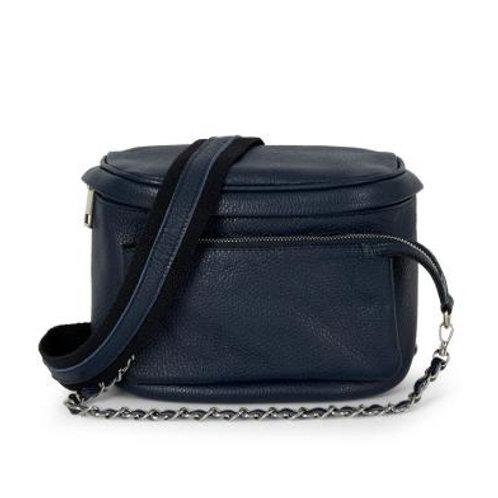 Navy Pouch Crossbody Bag