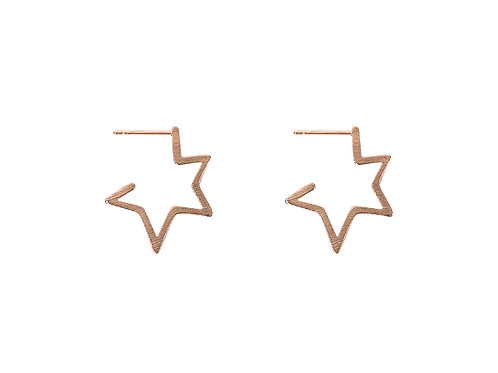 Chiarra Rose Gold Star Earrings