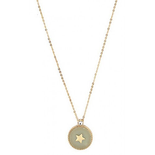 Light Sage Star Pendant Necklace