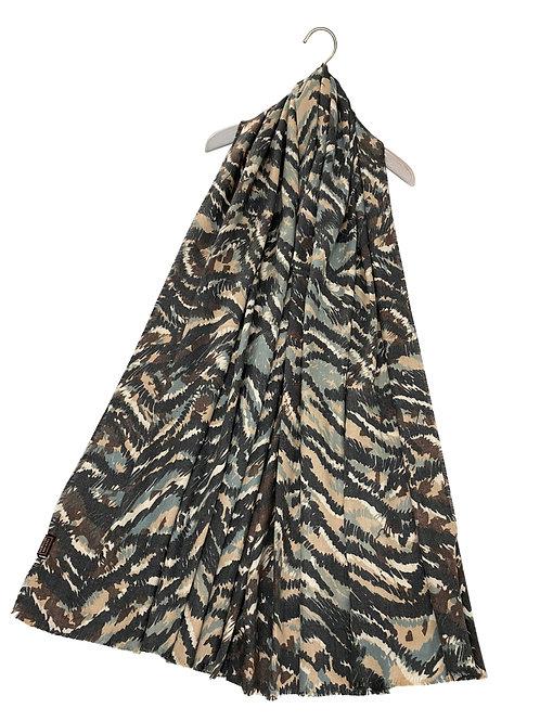 Camouflage Print Blanket Scarf