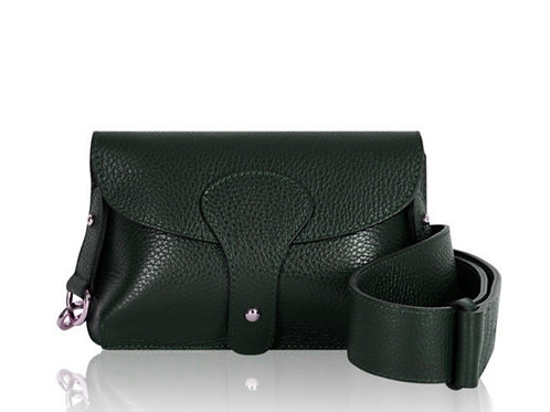 Dark Green Chunky Strap Bag