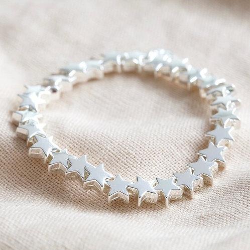 Silver Star Stretch Bracelet