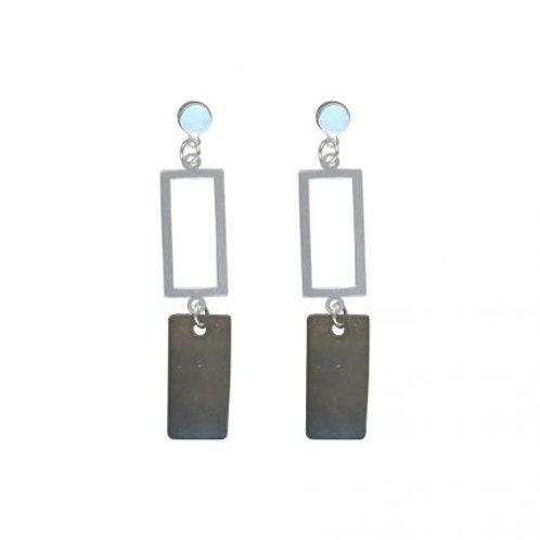Perdita Grey & Silver Delicate Shell Earrings