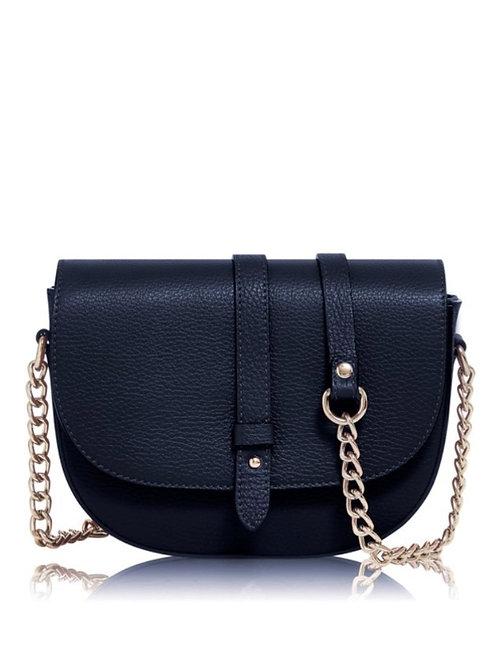 Navy Chain Strap Bag